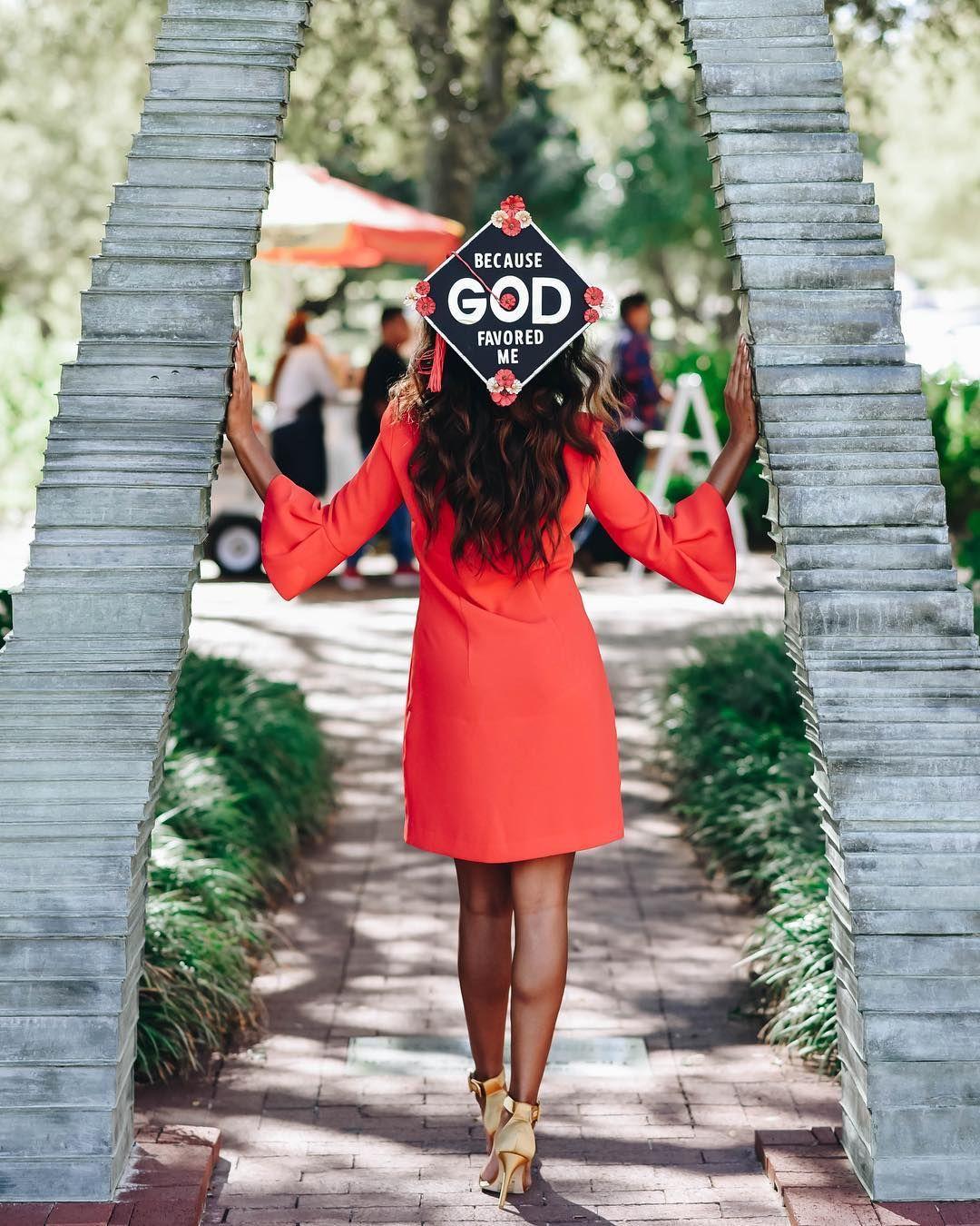 amberlacyy\'s Because God Favored Me UNT graduation cap decoration ...