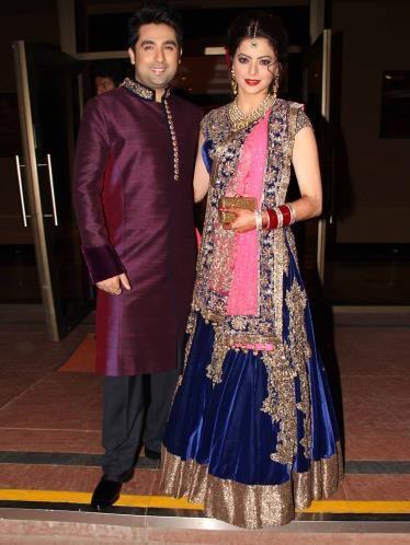 Aamna Sharif Wedding Pictures : Manish Malhotra & Sabyasachi lehengas