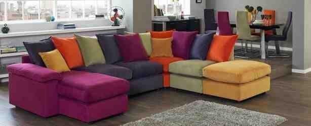 Dfs Huge Multi Coloured Modular Sofa United Kingdom Gumtree Corner Sofa Sofa Purple Sofa Design