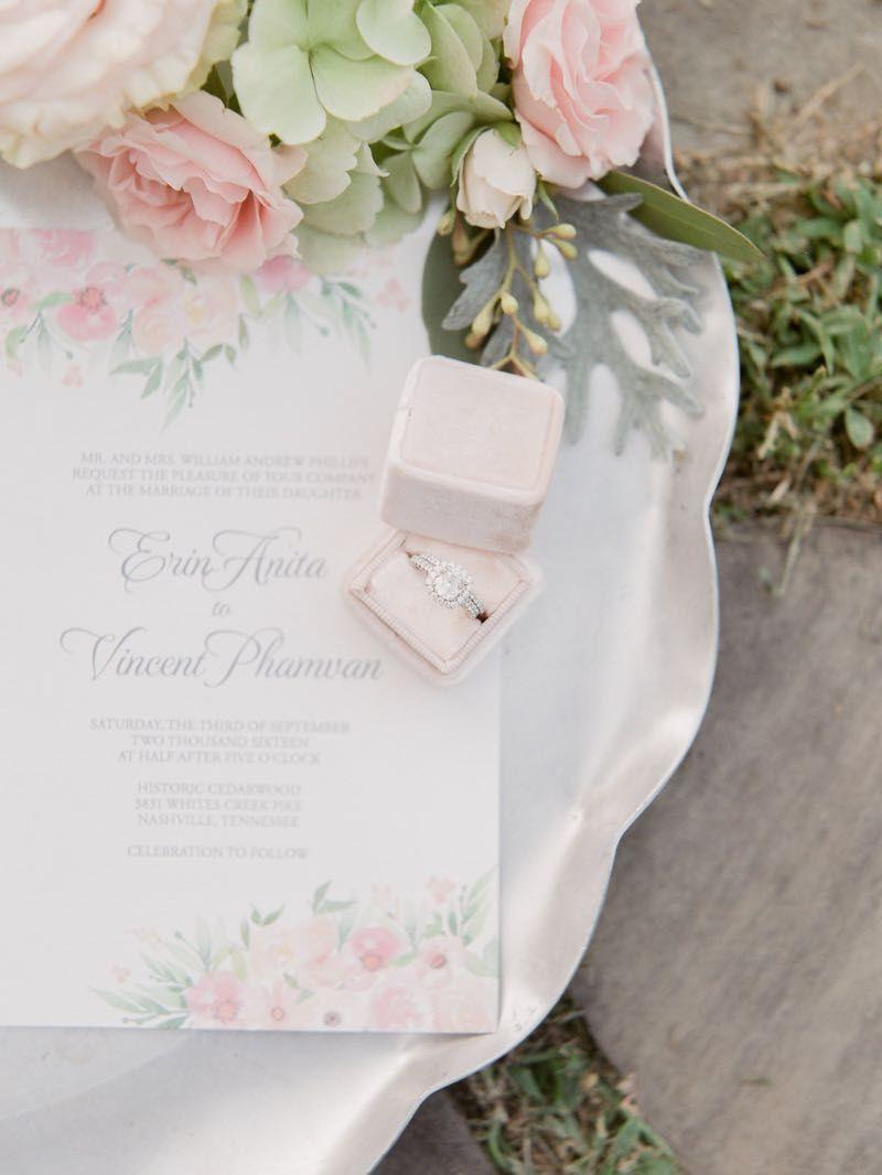 Ring & invitation details #cedarwoodweddings