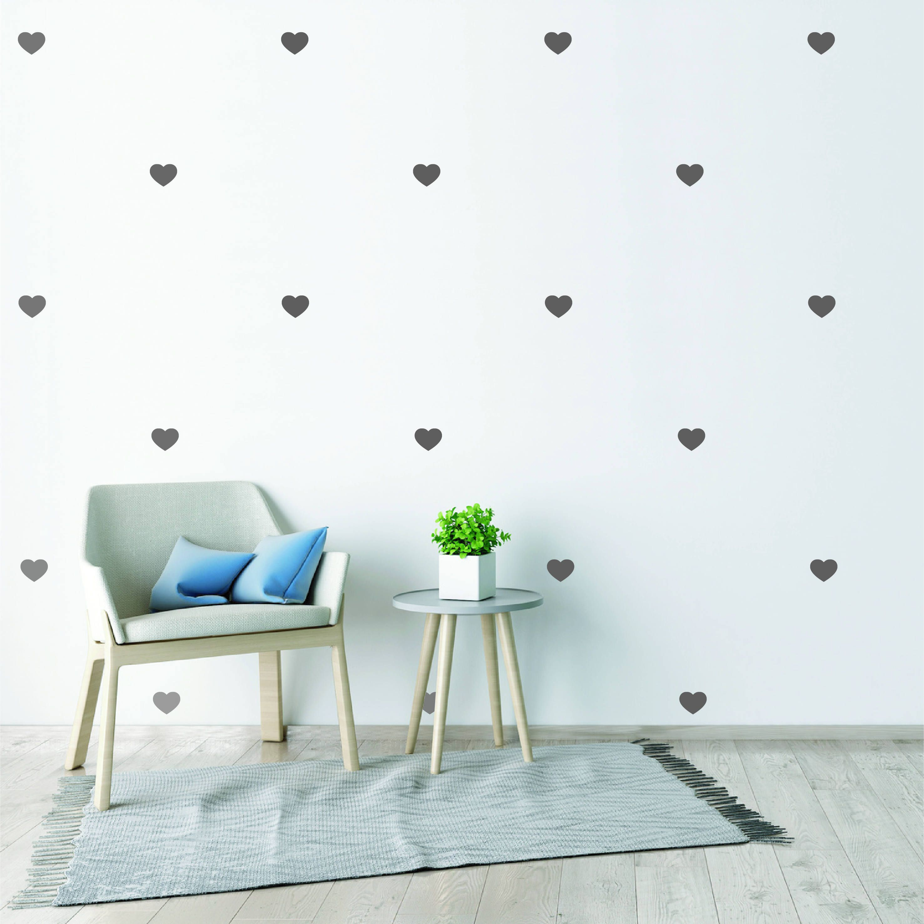 Love Heart Wall Stickers Love Heart Pattern Cute Nursery Wall Decals Kids Room Wall Decor Babies Room Wa Kids Room Wall Decor Kids Room Wall Decals Round Decor
