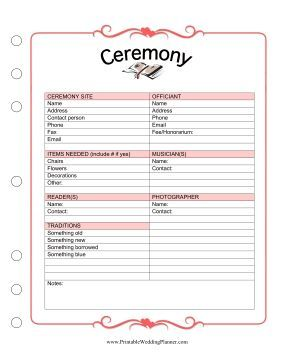 And That You Have Something Old New Borrowed Blue With This Wedding Planner Ceremony Checklist
