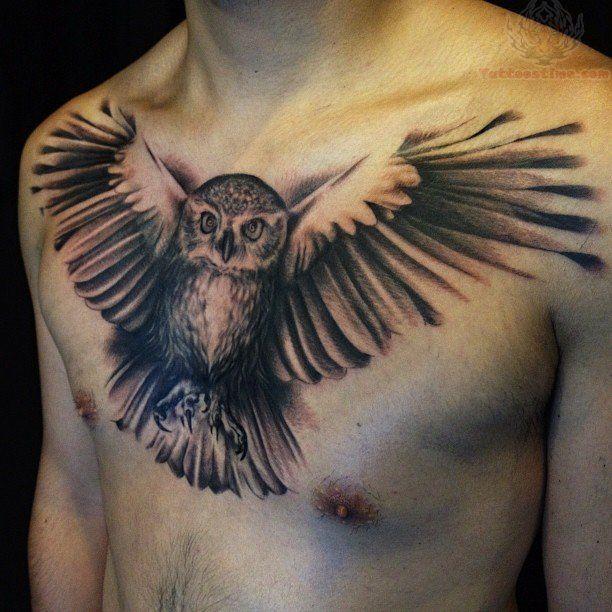 Flying Owl Tattoos On Men Chest Art 31 Owl Tattoo Chest Mens Owl Tattoo Tattoos For Guys