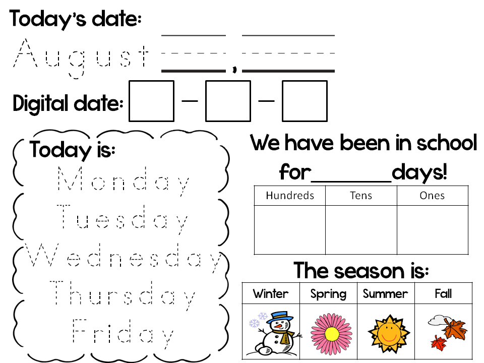 Calendar Ideas | Calendar activities, Daily calendar ...