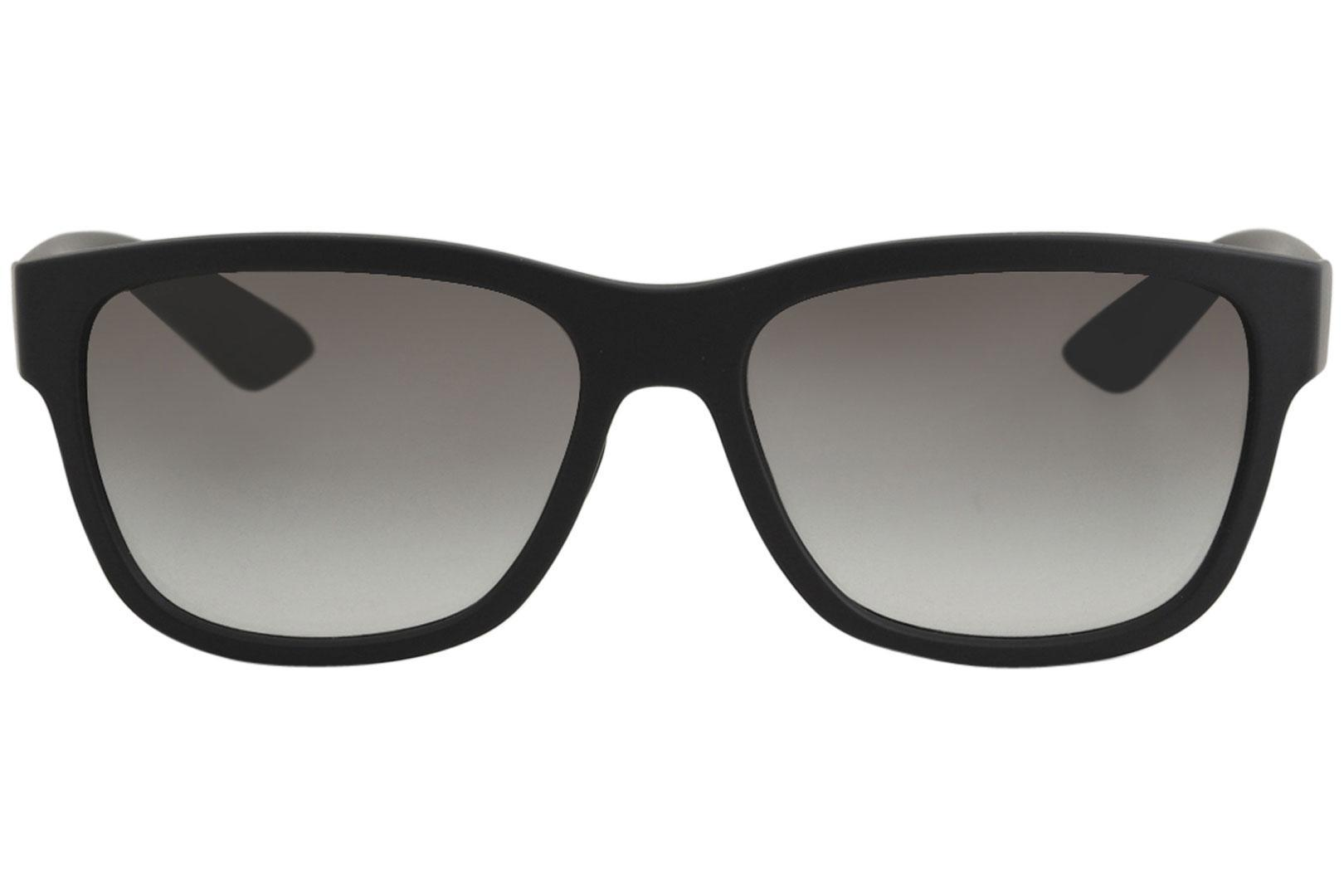 21fcb8ab5d Prada SPS03Q-F Black   Light Brown Lens Sunglasses – shadesdaddy