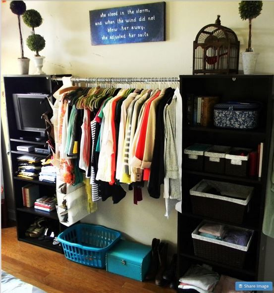 Organizar ropa sin closet ideas para el hogar for Small bedroom no closet