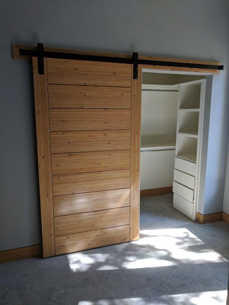 Barn Door Made Out Of Lvl Micro Lam Bamboo Look Dutch Door Cabinet Doors House