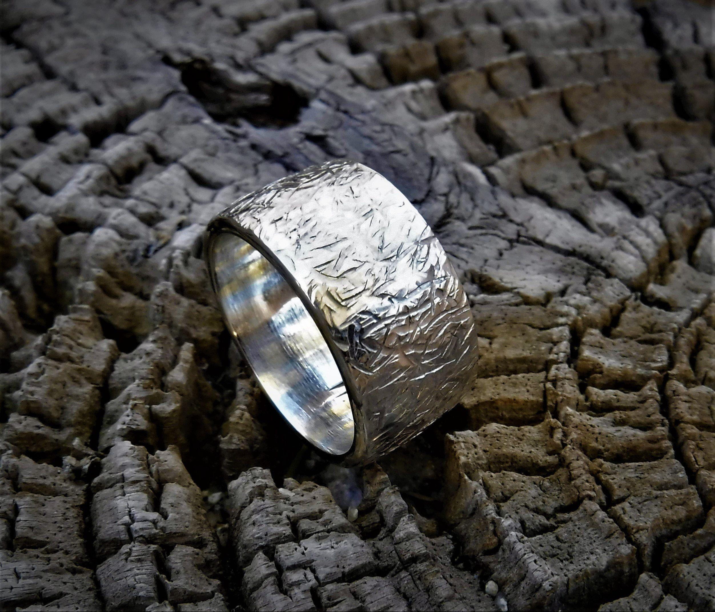 Viking Hammered 925 Sterling Silver Wedding Ring Size 11 Wide 12 5 Mm And Heav In 2020 Sterling Silver Wedding Rings Hammered Wedding Rings Tungsten Wedding Rings