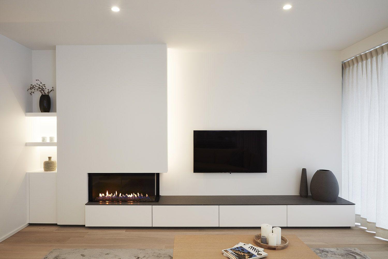 Distribución chimenea tele | casa | Pinterest | Salón ...