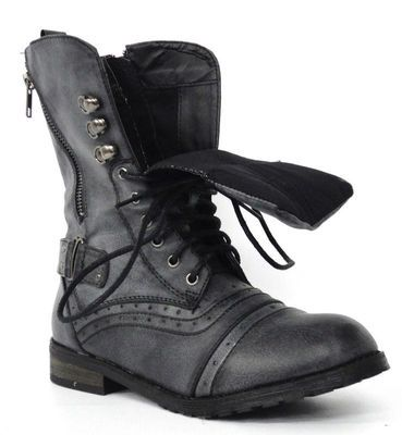 f2bb566d4ed08 NEW LADIES WOMENS MILITARY ARMY COMBAT FASHION SHOES WORKER BOOTS SIZES UK  3-8 | eBay