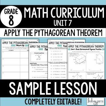 Pythagorean Theorem Lesson {FREE SAMPLE LESSON} Ab… | Math Grades 7 ...