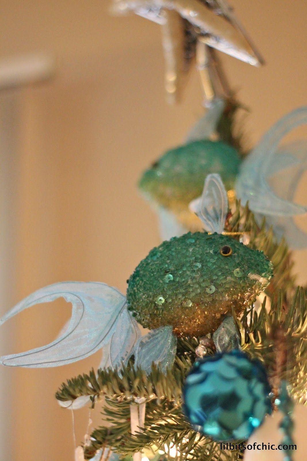 Fish ornaments from kohls decor christmas pinterest
