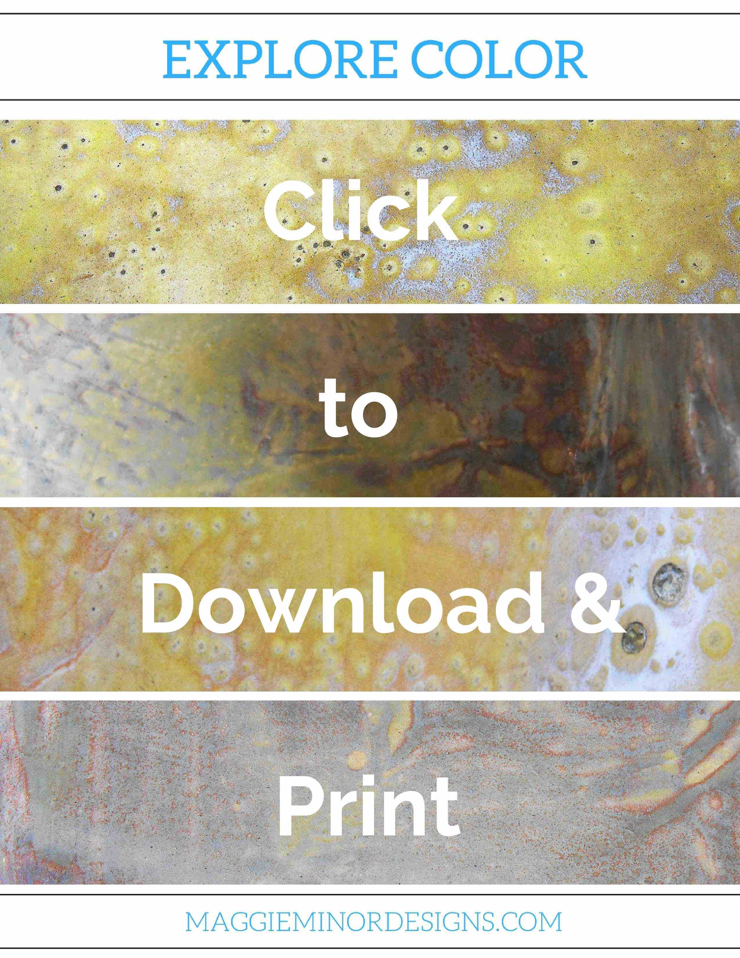Click to download this free printable poster | color | colorful ...