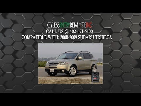 How To Change A 2006 2008 Subaru Tribeca Key Fob Battery Key