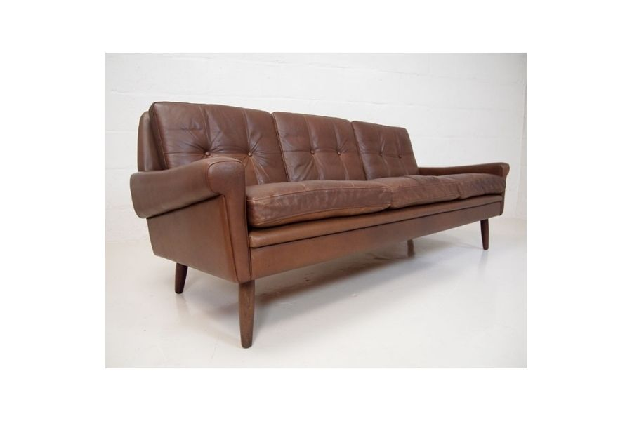 Best Mid Century Brown Leather Sofa By Svend Skipper For 400 x 300