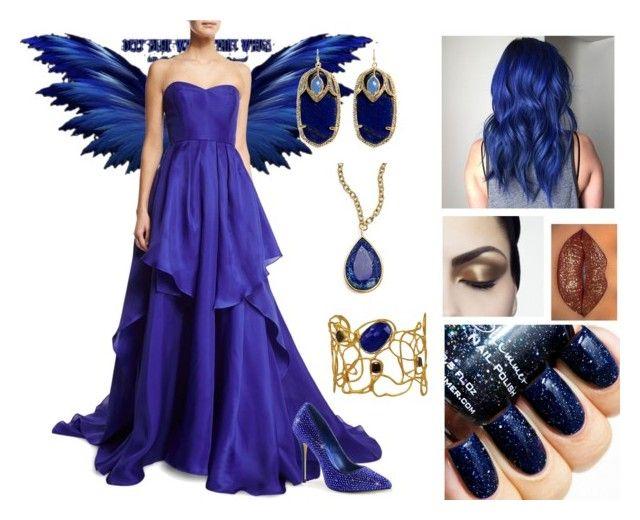 """Blue fairy"" by fashiongeeke ❤ liked on Polyvore featuring Badgley Mischka, Karen Kane, Kendra Scott, Vassiliki, women's clothing, women, female, woman, misses and juniors"