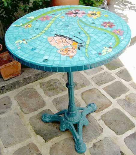 Table Mosaique | mosaique | Pinterest | Table mosaïque, Mosaique et ...