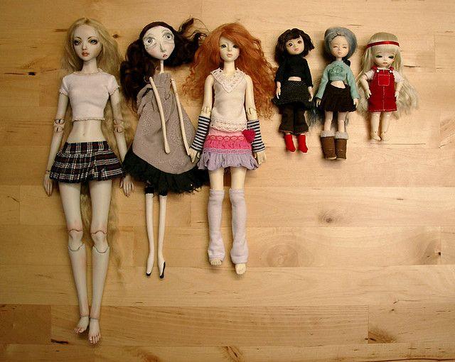 left to right: Iðunn (Enchanted Doll Bianca 34.29cm), Smilla (Black ...