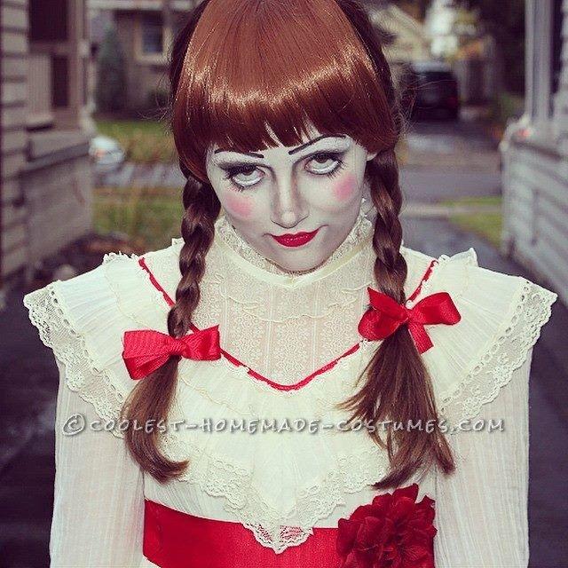 Trucco Annabelle Halloween.Creepy Annabelle Halloween Costume Coolest Homemade Costumes