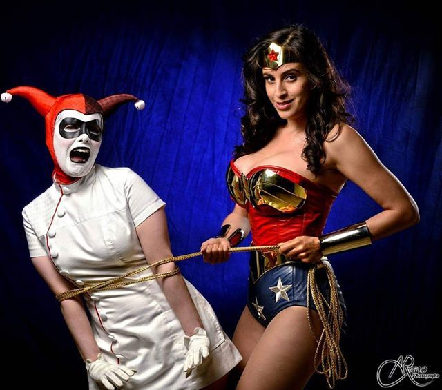 bondage Wonder woman cosplay