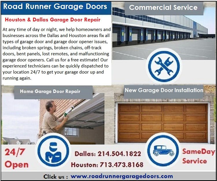 New Commercial Garage Doors Installation In Houston Tx Call Us At Dallas 214 504 1822 Houston Commercial Garage Doors Garage Door Installation Garage Doors