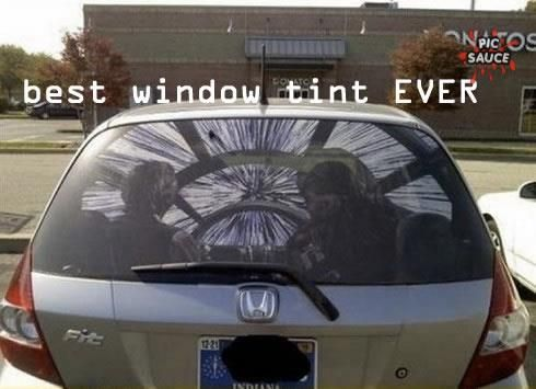 For the sci fi geek in all of us this a very cool window