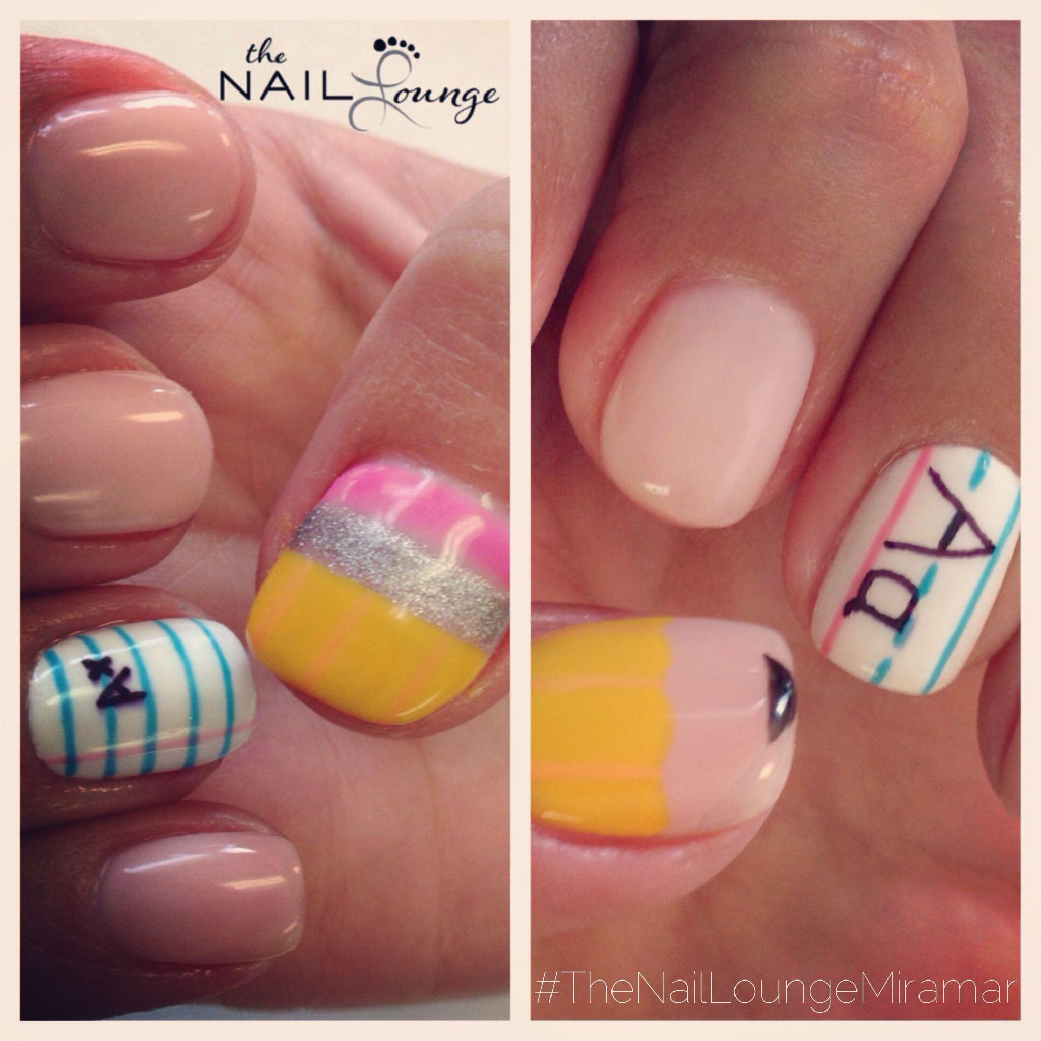 school nails gel