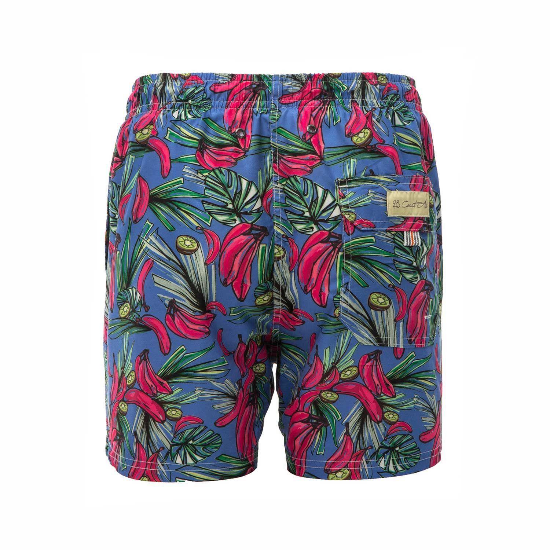 f730887e6fb560 men's swimwear 100% polyester side pockets back pocket, velcro flap elastic  waistband drawstring european fabrics quick dry fabric tropical paradise ...