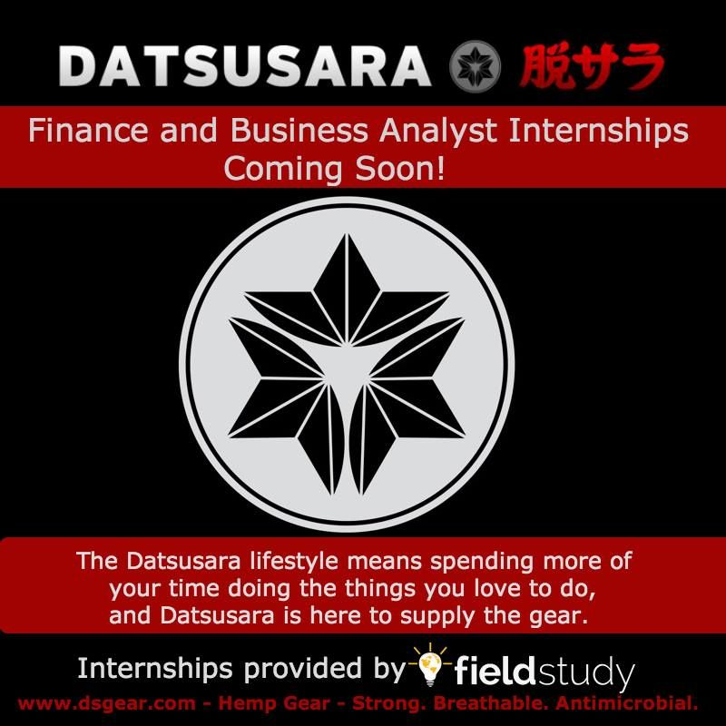 We're happy to announce our partnership with Datsusara, one of the only Hemp clothing and gear manufacturers based in the Bay Area! They will be looking for a couple of interns in the near future!   Check them out at www.dsgear.com and sign up at www.fieldstudy.net for updates and details on upcoming internship positions!  #Datsusara #Internship #Intern #fieldstudy