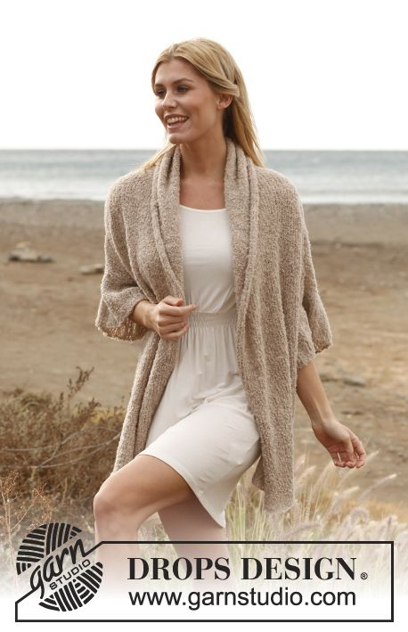 Breezy Comfort Knitted Drops Jacket In Alpaca Boucl Size S