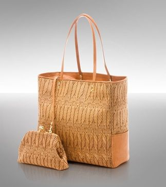 cute woven tote - love the detachable coin purse