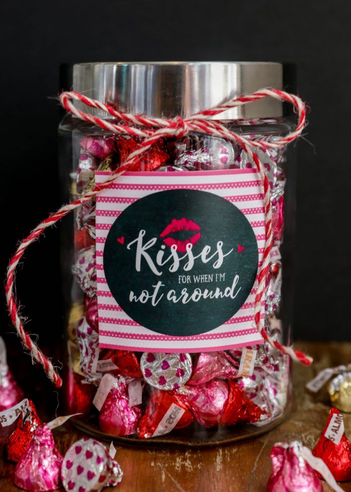 Kisses Jar Simple Valentines Gifts Cute Valentines Day Gifts Sentimental Valentines Gifts