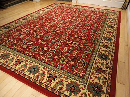Red Traditional Rug Large Red 8x11 Persian Rug Red Rugs For Living
