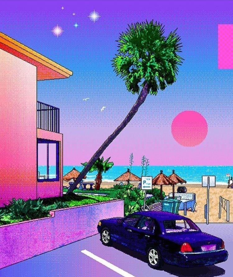 Vaporwave Art, Retro Art, Pixel Art