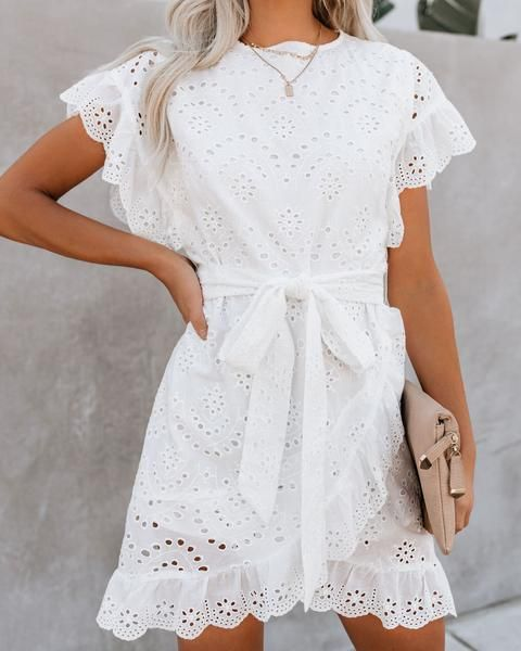To Love + To Cherish Cotton Eyelet Dress – FINAL SALE