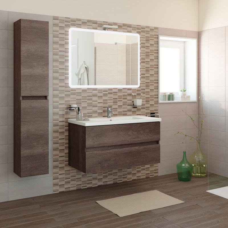 Mobile bagno kora rovere l 101 cm scuro bagno e bagni - Mobile bagno leroy merlin ...