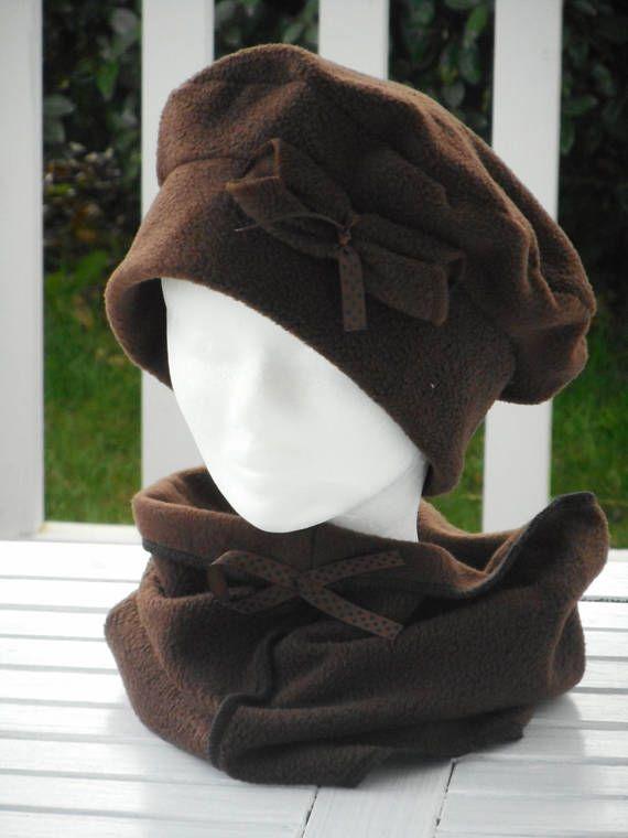 Bonnet chapeau béret turban et snood écharpe femme confortable ... 4a699cfe629