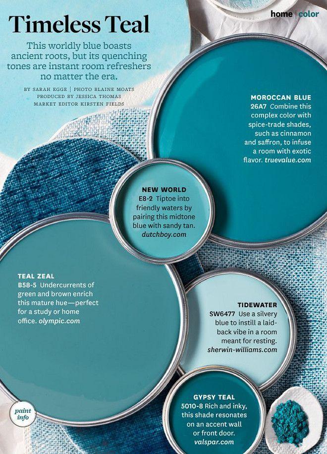 Interior Design Ideas teal paint palette light turquoise blue