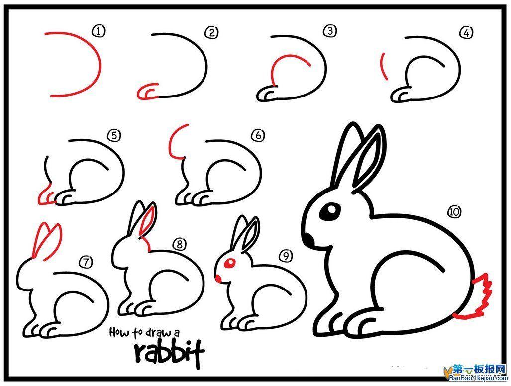 Konijn tekenen met kleuters | Tekenen, Tekenen voor kinderen