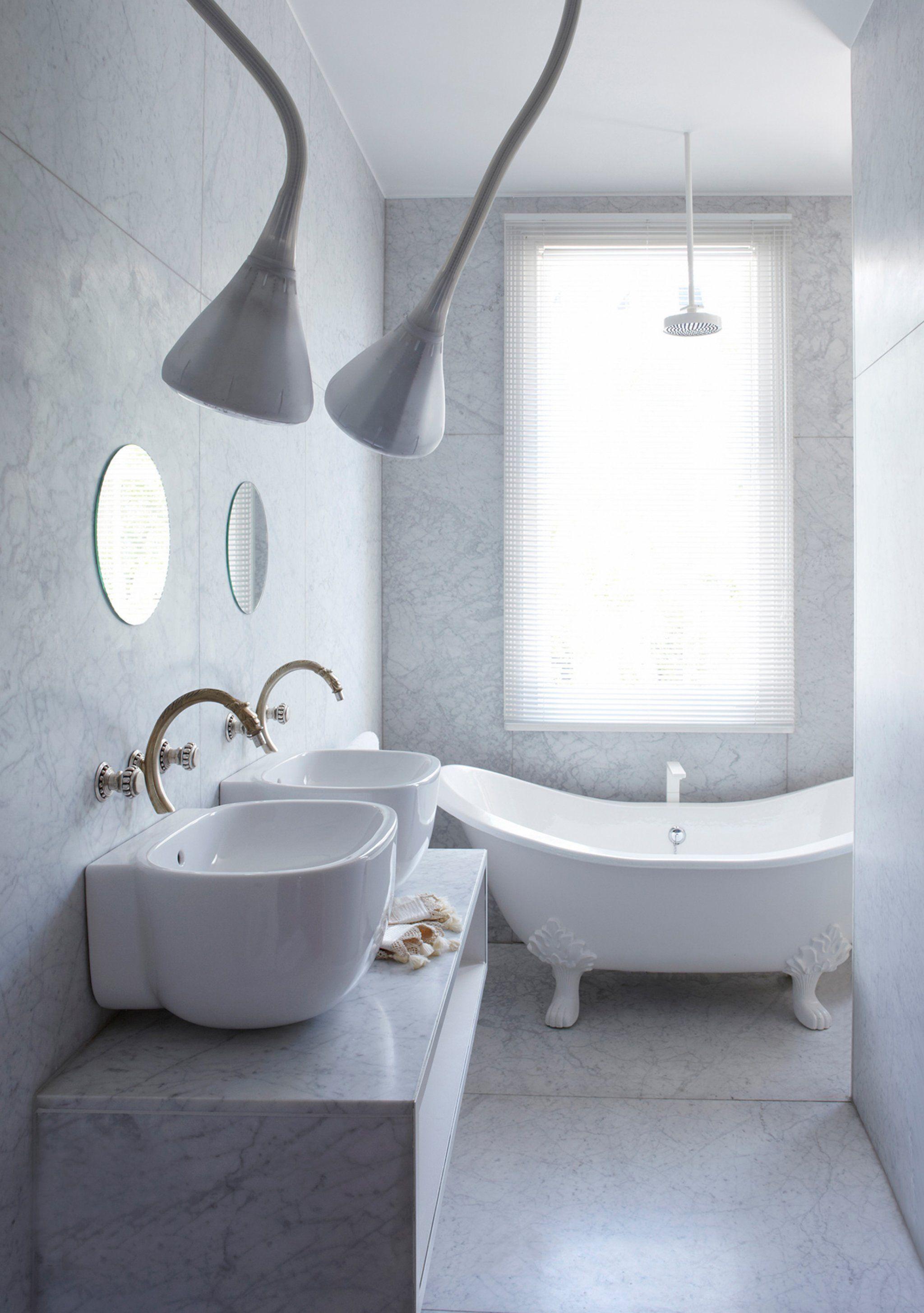 white bathroom design by annabel karim kassar from project notting hill house - Bathroom Designs Lebanon