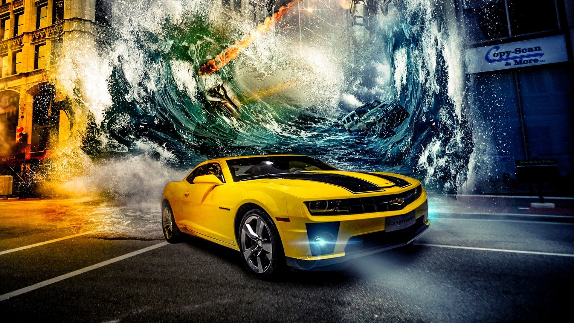 Yellow Car Wallpaper Hd Cars Wall Papers Pinterest