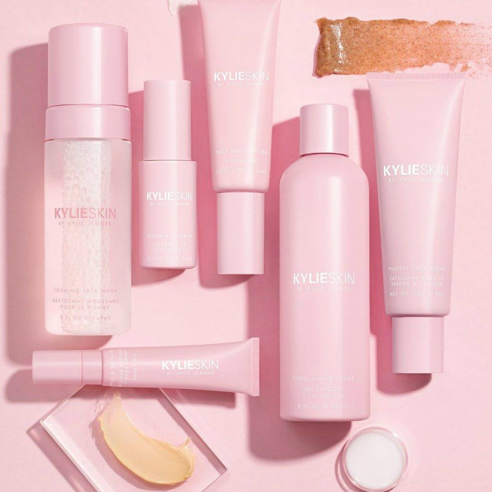 Kylie Skin S First Products Have Been Revealed And They Re Surprisingly Affordable They Are Also Very Pink Organics Skincare Ingredients Kylie Skincare Video