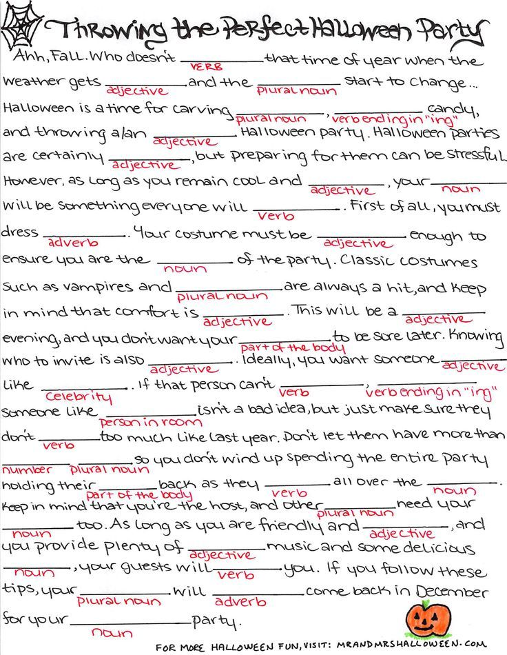 Image result for mad libs printable | Halloween | Pinterest