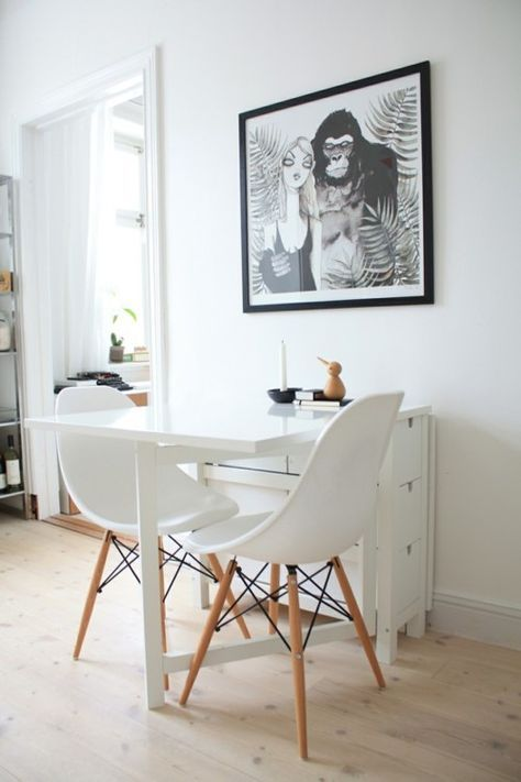 Ikea Spotted // Norden Gateleg Table In White [Via Spaces