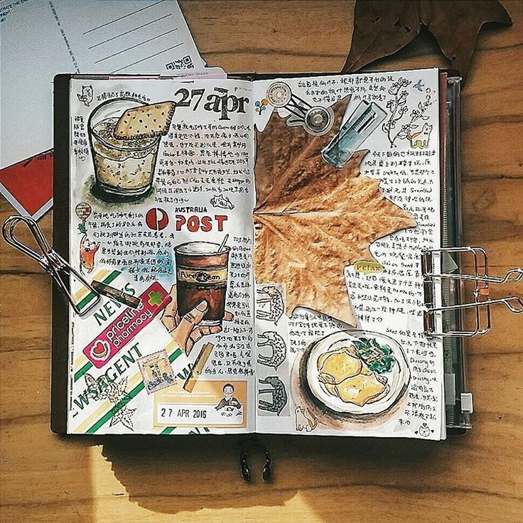 how to make a travel journal scrapbook