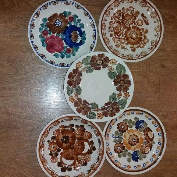 Vintage Decorative Folk Plate Big Hand Painted Traditional