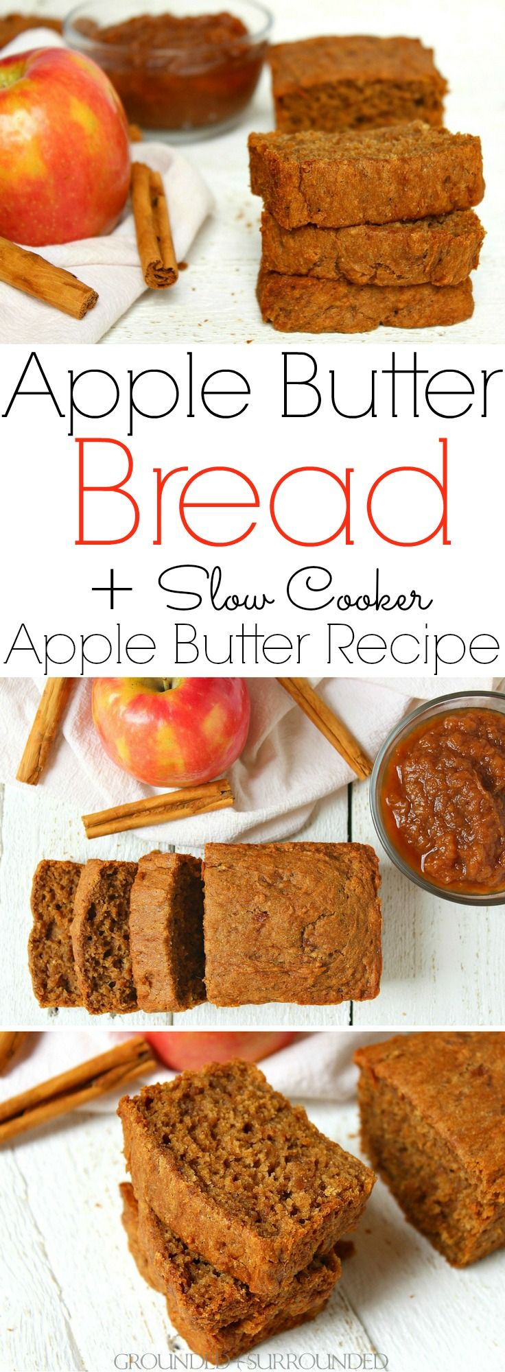 The BEST Apple Butter Bread + Slow Cooker Apple Butter Recipe | This gluten-free…