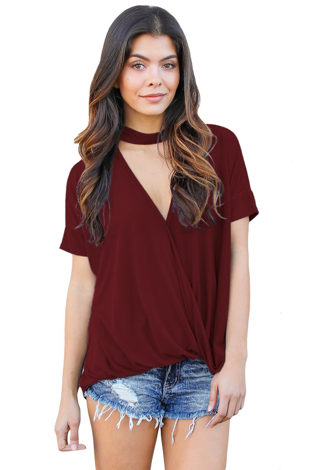 c6f26376b166 Burgundy Choker N... Fashion Quality Boutik always has fashion finds with  your in