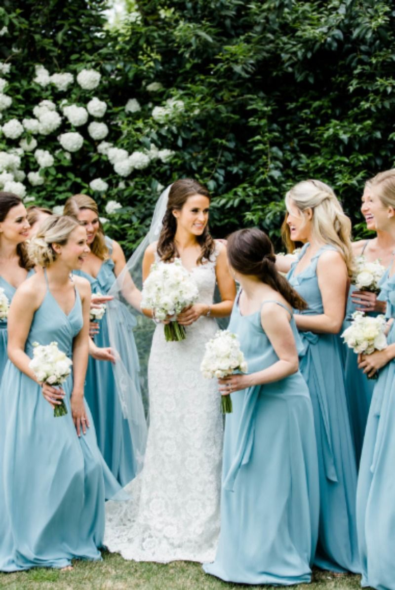 Joanna august pale blue bridesmaid dresses weddings and wedding