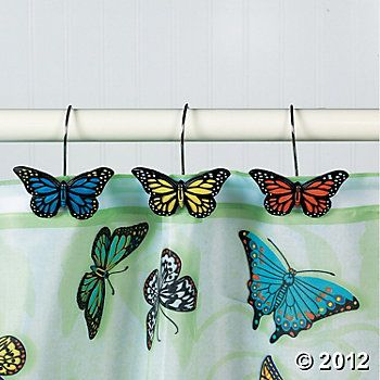 Butterfly Bathroom Curtain Hooks Cori Party Butterfly
